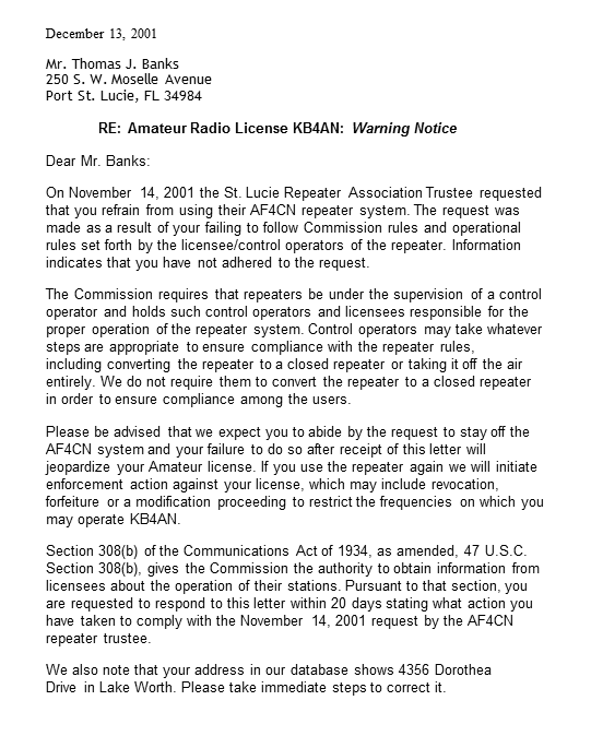 Nothing could be fairer. The ARRL says it clearest of all.